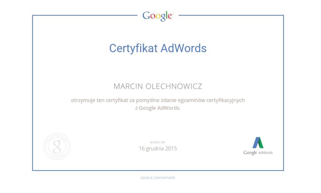 certyfikat, adwords, kampanie, marketing, praw