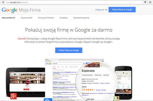 mapy google, google places, miejsca google